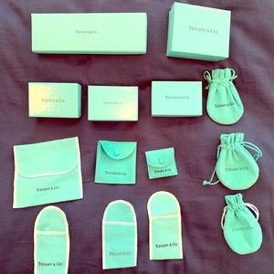 Tiffany & Co authentic boxes and jewelry bags
